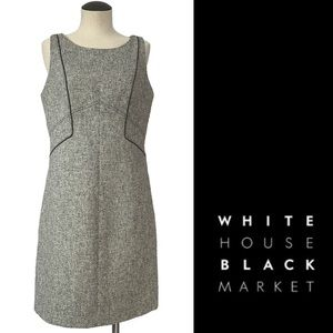 WHBM📰tweed pencil sheath dress lined Size 8 NWOT